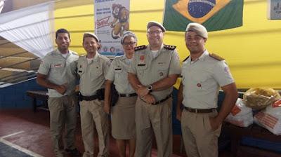 Major Jorge Alexandre e coordenadores do Proerd.