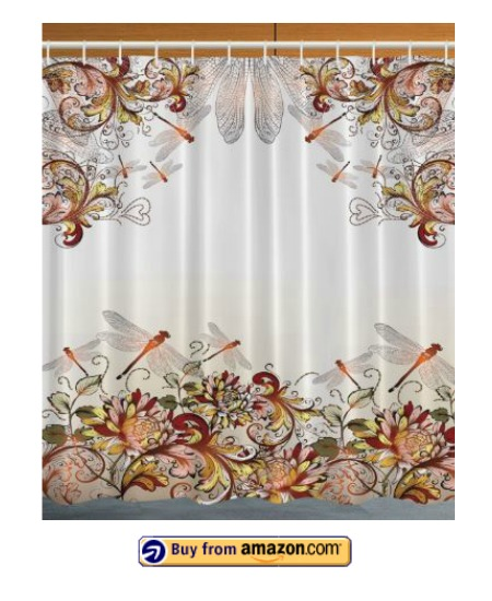 pretty dragonfly shower curtains.  Fill Her Bathroom with Dragonflies and this Pretty Shower Curtain