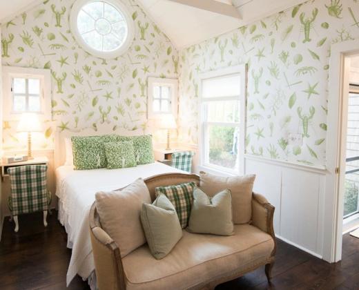 Lobster Wallpaper Green