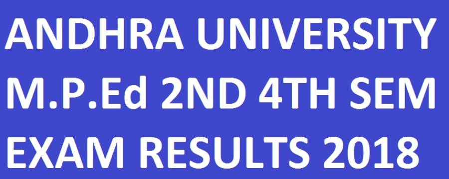AU M.P.Ed 2nd & 4th Sem Results