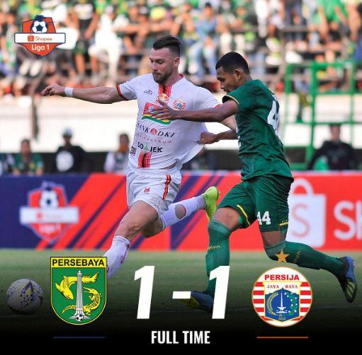 Persebaya Surabaya vs Persija Jakarta 1-1 Highlights Goal