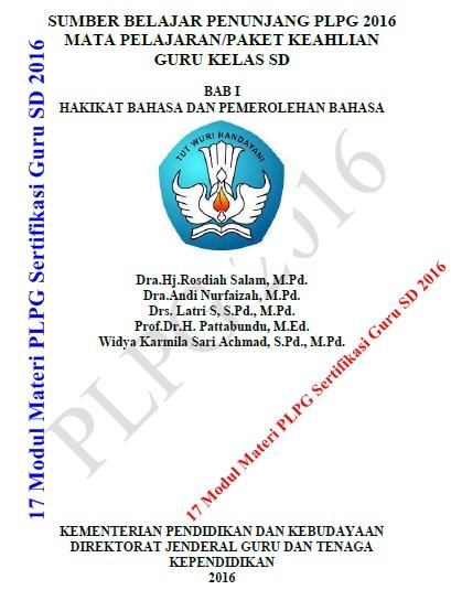 Download 17 Modul Materi PLPG Sertifikasi Guru SD 2016 Mapel PKn, Bahasa Indonesia, Matematika, IPA, dan IPS