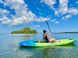 Kayaking with manatees in Biscayne National Park