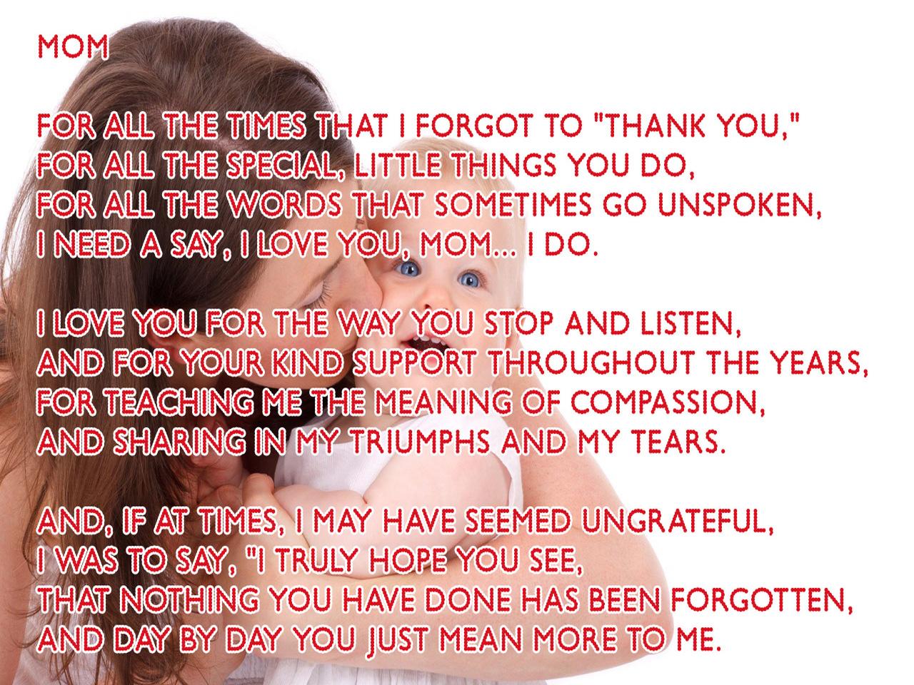 Loving Mom Poems 93