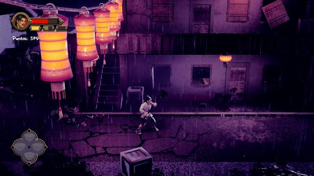9 Monkeys of Shaolin Lluvia Juego de luces y sombras