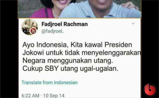 Jadi Yang Ugal-Ugalan, SBY Atau Jokowi Om Fadjroel?