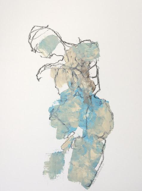 standing abstract figure, gallery juana