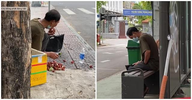 Youtuber xót xa bắt gặp người đàn ông bới rác kiếm ăn giữa mùa dịch ở Sài Gòn