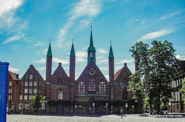 Heiligen-Geist Hospital, albergue do Século 11 em Lübeck, Alemanha