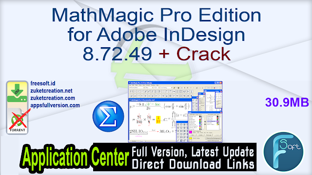 MathMagic Pro Edition for Adobe InDesign 8.72.49 + Crack
