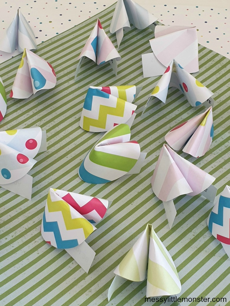 Fortune cookie paper craft for kids