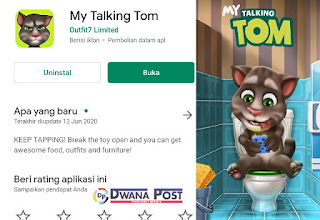 REVIEW] Game My Talking Tom - Menurut Saya?