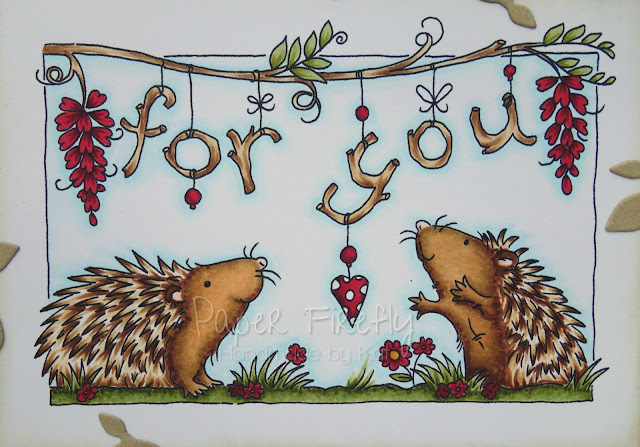For you card featuring cute hedgehogs (image is Hedgehogs - For You by LOTV)