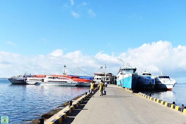 Puerto de Sorong, Indonesia