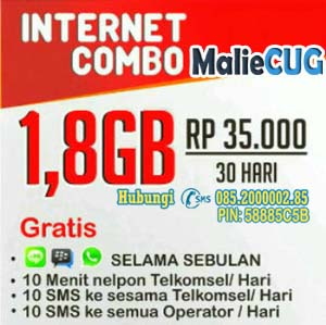 CUG Internet 1.8GB