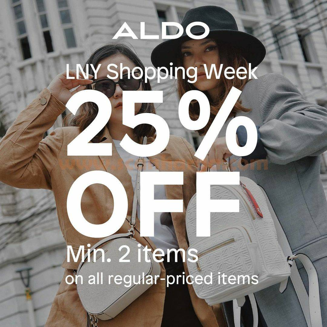 ALDO SHOES Promo LUNAR NEW YEAR Shopping Week! Discount up to 50% Off