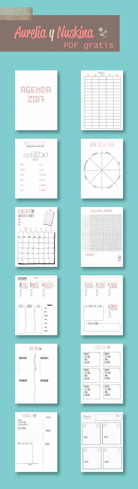 agenda 2017 para imprimir gratis