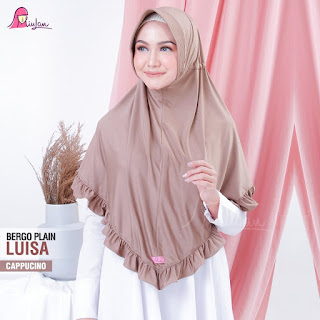 Hijab Plain Miulan Bergo Luisa Cappucino