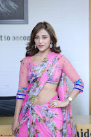 Angela Krislinzki Rogue Movie Fame Telugu Actress in Saree Backless Choli 073.JPG