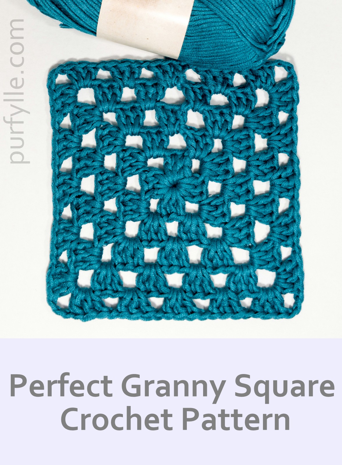 Perfect Crochet Granny Square Pattern, Seam Free