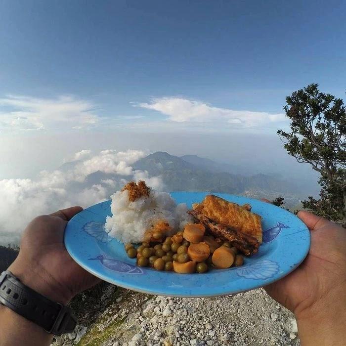 nasi sehat gunung foto instagram abesukmana