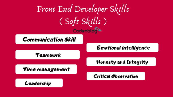 Soft skills-Front End Developer Skills