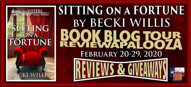 Sitting on a Fortune book blog tour promotion banner