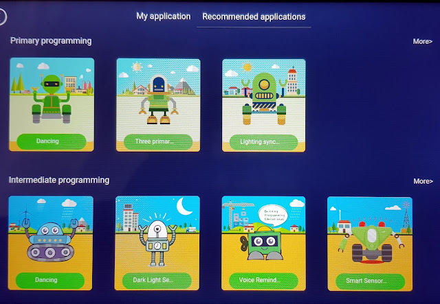 Q-Scout example applications included of coding for children