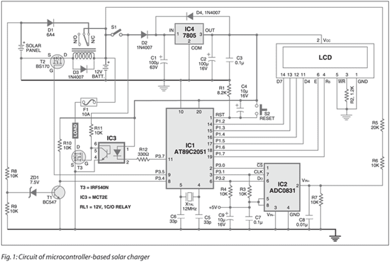 Circuit Designing  U0026 Firmware Development  Microcontroller Based Solar Charger