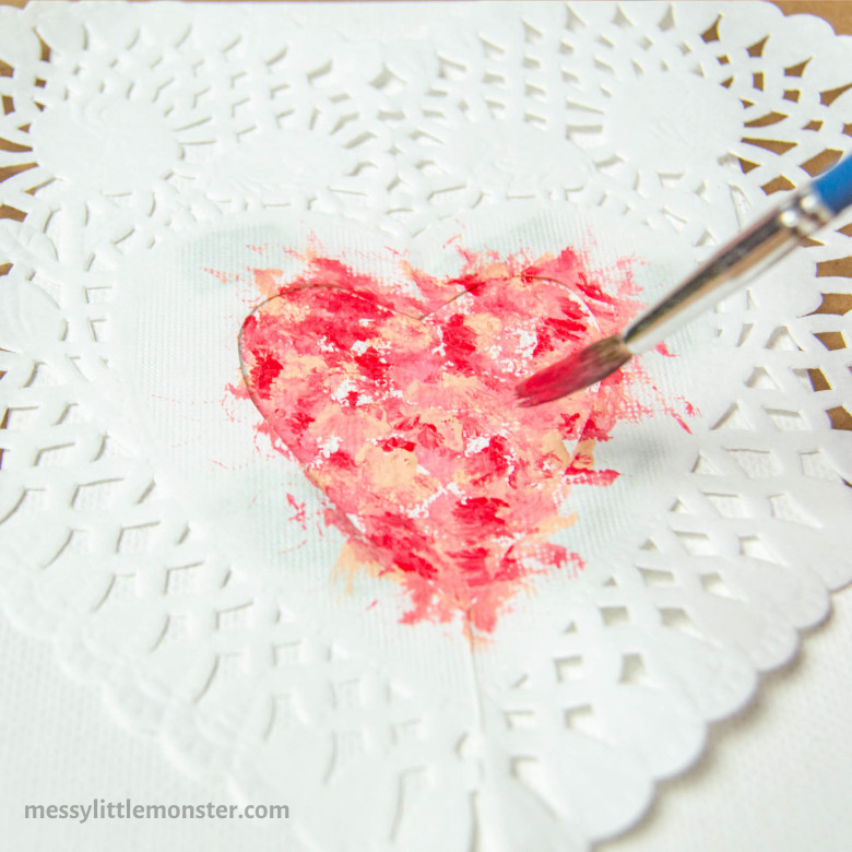 heart painting for kids