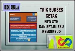 Trik Sukses Cetak Info GTK Dan SPTJM Dana BSU KEMDIKBUD