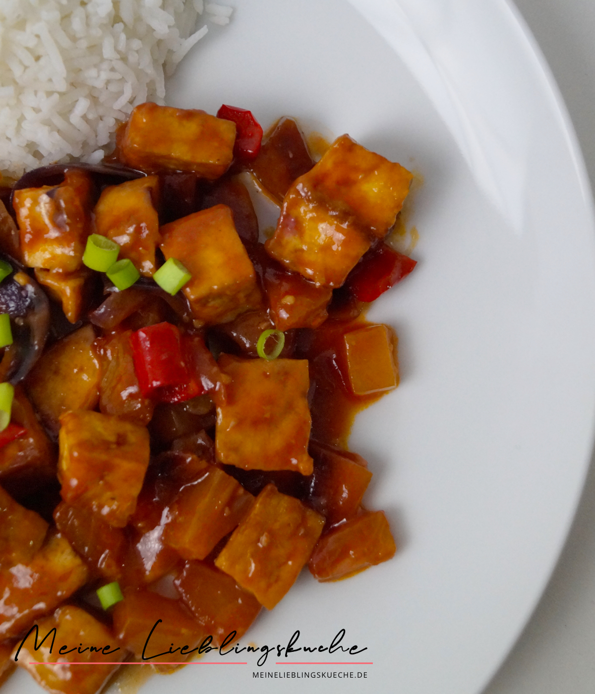 Tofu süß-sauer mit Reis