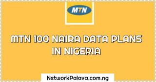 mtn 100 naira data plans Nigeria