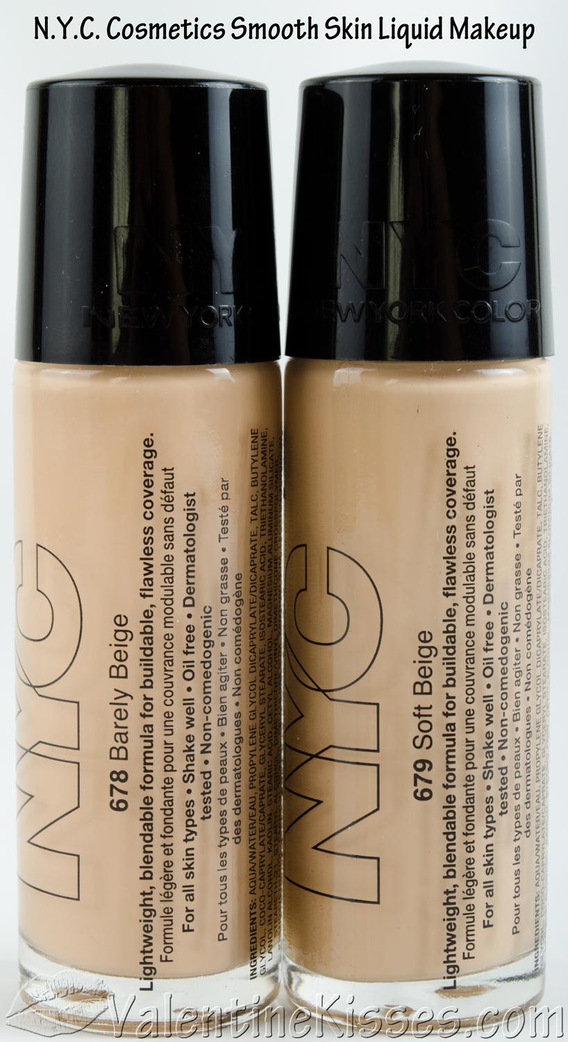 Cosmetics And Makeup: Valentine Kisses: N.Y.C. Cosmetics Smooth Skin Liquid