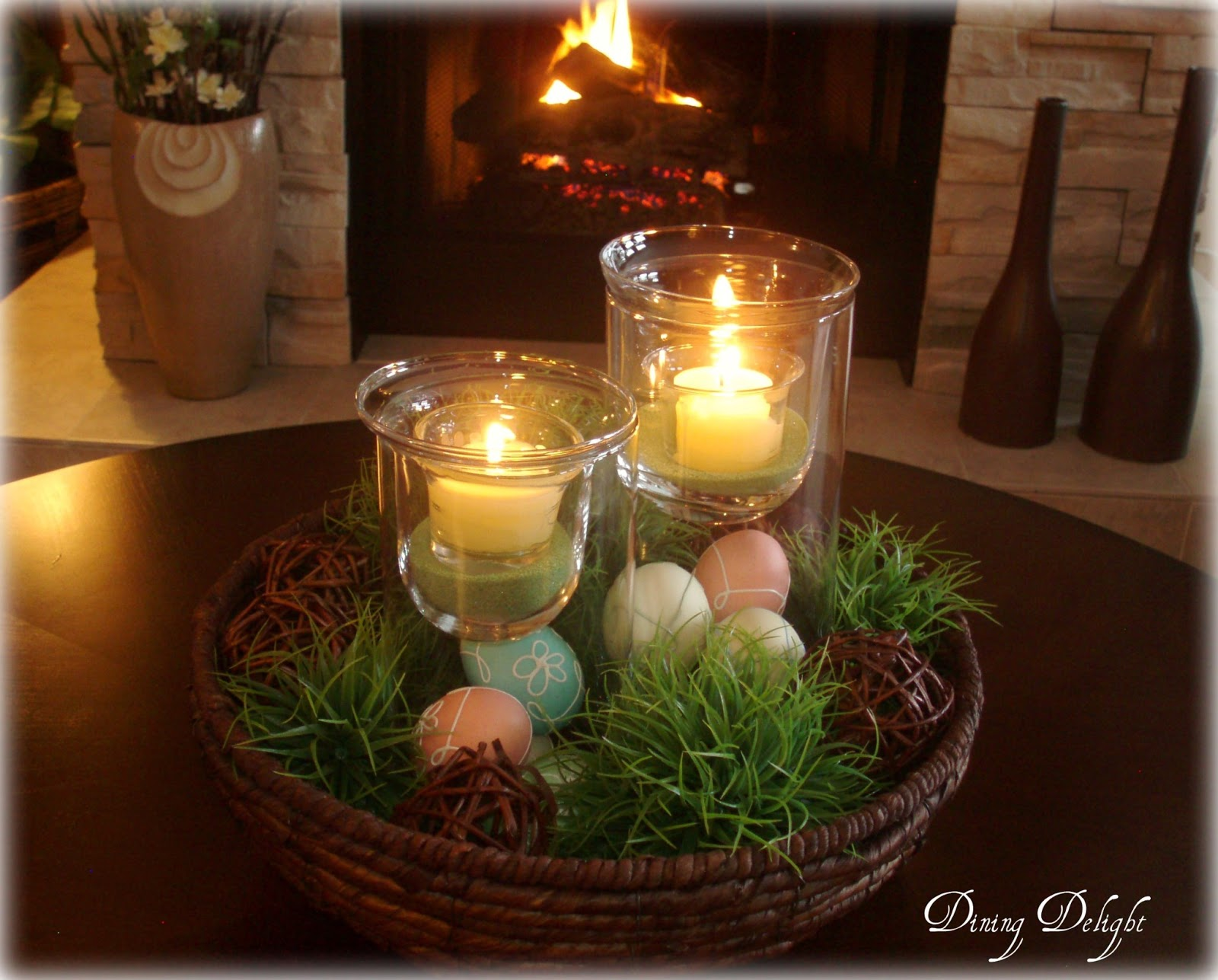 Dining Delight: Summer Centerpiece for the Coffee Table