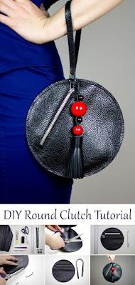 Round Clutch with Tassel. DIY Tutorial