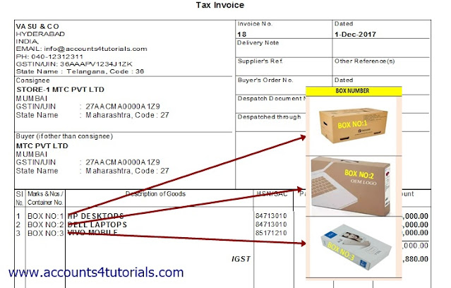 how to add packing details in tally invoice