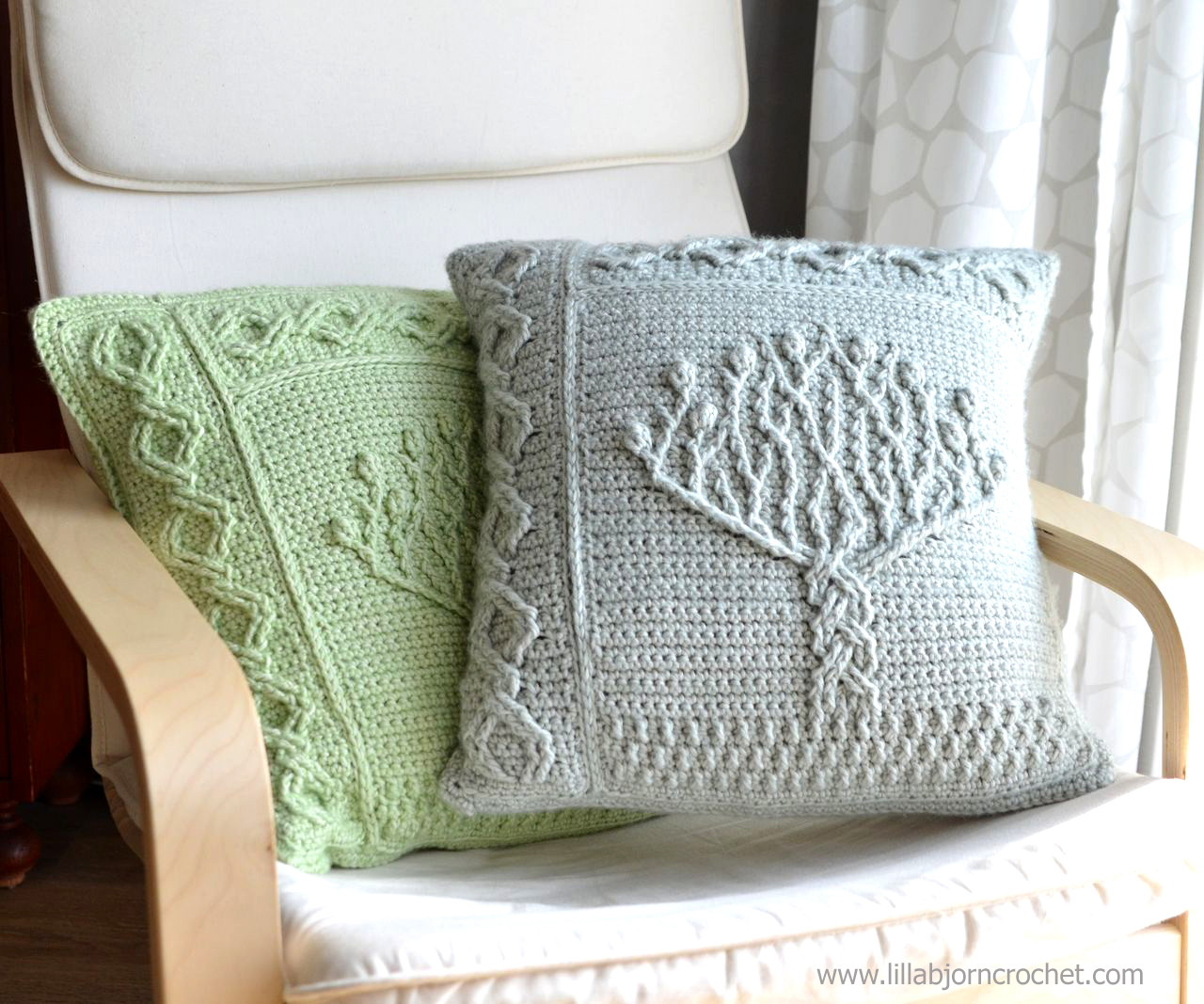 Tree of Life pillow  new overlay crochet pattern ...