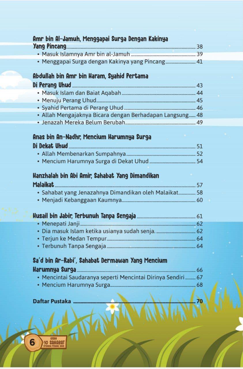 Buku Kisah 10 Sahabat Syuhada Perang Uhud Daar Ilmi