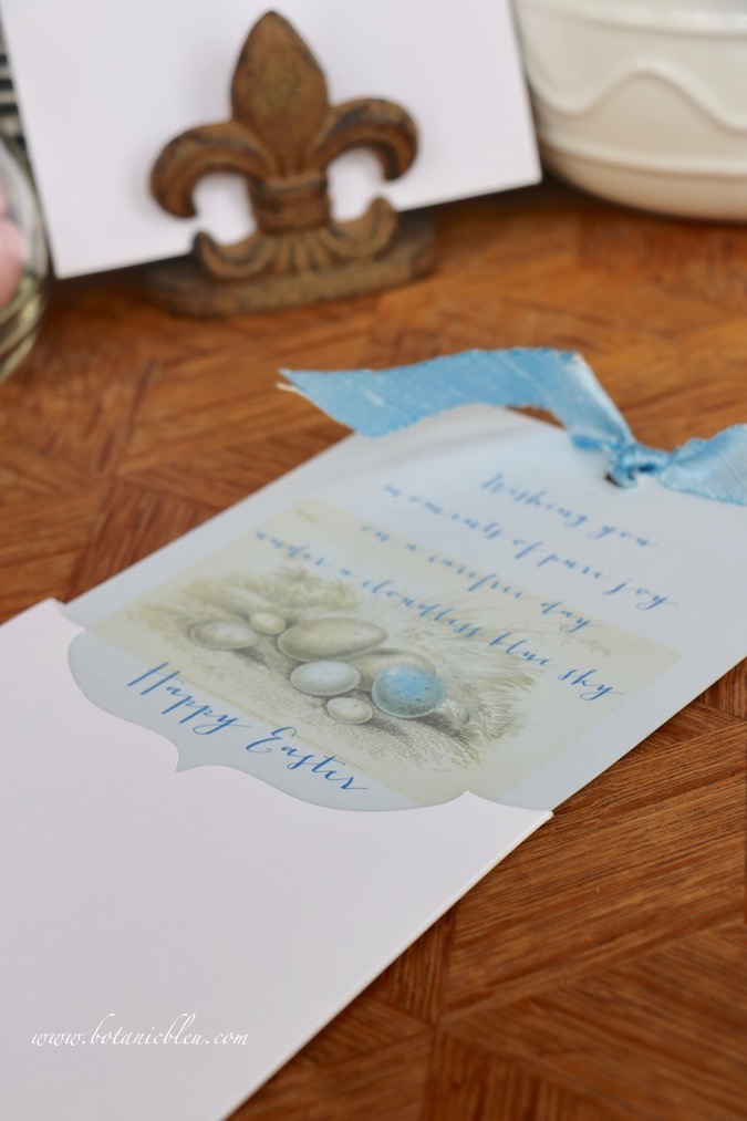 Special slip-in card holders make Handmade Easter Cards special