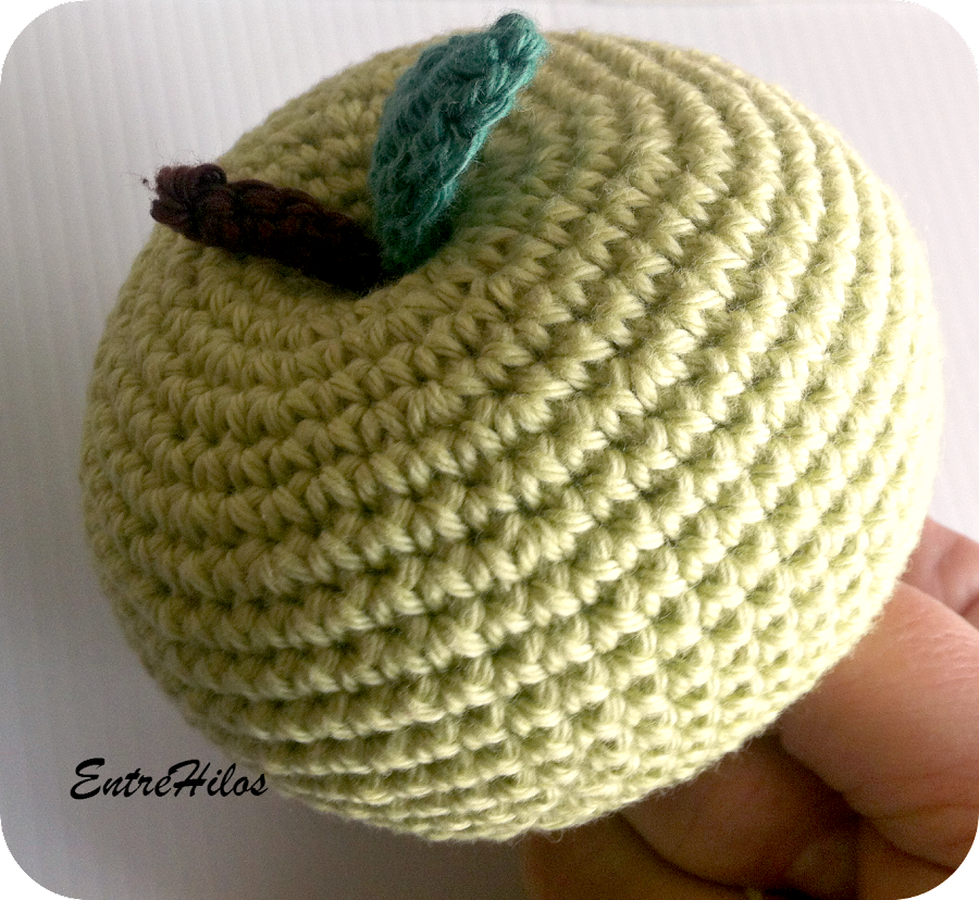 tutorial manzana amigurumi