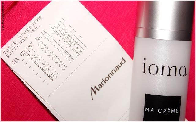 Ma Crème sur-mesure, cosmétique personnalisé - Marionnaud - ioma Paris - Blog beauté