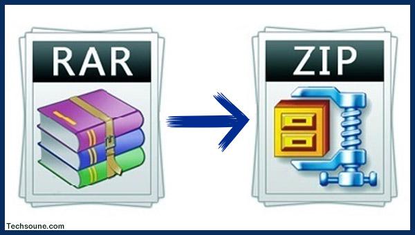 كيفية تحويل صيغة ملف RAR إلى ZIP
