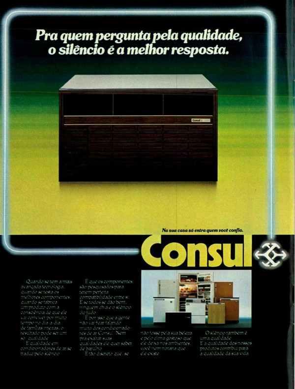Anúncio da Consul veiculado em 1983 promovendo sua linha de eletrônicos