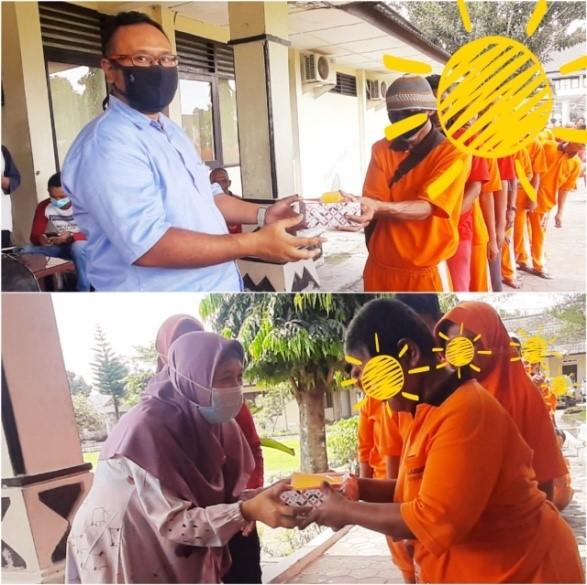 Komunitas Jumat Berkah Berbagi Dengan Warga Binaan Sosial Bina Laras Balai RSBKL DINAS SOSIAL DIY