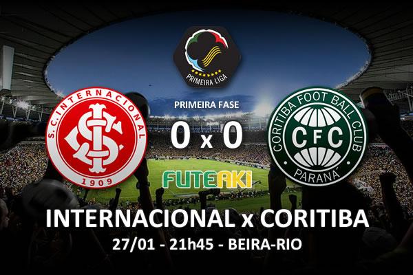 Veja o resumo da partida de Internacional 0x0 Coritiba pela 1ª rodada da Copa Sul-Minas-Rio 2016.