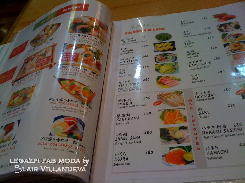 Ammco bus : Miyabi japanese restaurant menu prices
