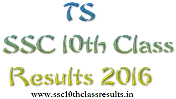 TS SSC 10th Class Results 2016