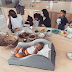 Beautiful photo of reality star, Kim Kardashian with her husband and their four children enjoying their breakfast