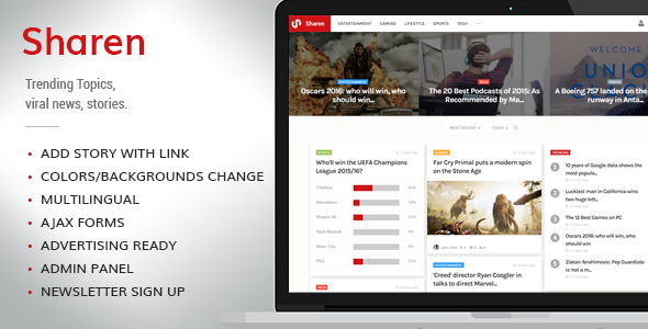 Sharen v3.6 - Trending Topics, Viral News, Stories, Gossip - CodeCanyon